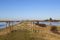 Flooded landscape with gate Royalty Free Stock Photo