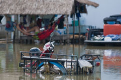 Flooded motorbike in Thailand Royalty Free Stock Photography