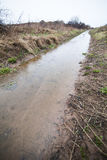 Flooded Path (ditch) Royalty Free Stock Photography