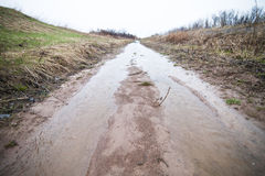 Flooded Path (ditch) Stock Photos