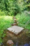 Flooded path in the summer. The concept of daily obstacles Royalty Free Stock Image