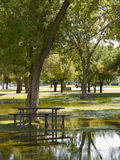 Flooded Picnic Area, Monsoon in Phoenix, AZ Royalty Free Stock Image