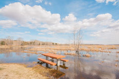 A Flooded Picnic Stock Photos