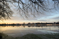 Flooded Pitchcroft Racecourse Stock Image