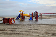 Flooded playground. A result of super storm Sandy Royalty Free Stock Images