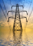 Flooded pylon Stock Image