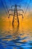 Flooded pylon Stock Photo