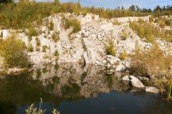 Flooded quarry Stock Photo