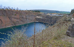 A Flooded Quarry Royalty Free Stock Photos