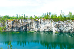Flooded quarry Stock Image