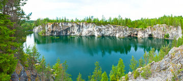Flooded quarry Royalty Free Stock Photography