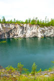 Flooded quarry Royalty Free Stock Photo