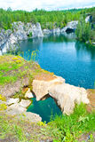 Flooded quarry Royalty Free Stock Image