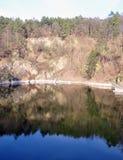 Flooded quarry village Lulec, Czech Republic, Europe Stock Images
