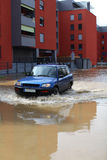 Flooded residential area Stock Photography