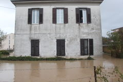 Flooded residential areas In Marina di Carrara Royalty Free Stock Photos