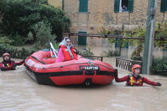 Flooded residential areas In Marina di Carrara Stock Image