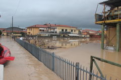Flooded residential areas In Marina di Carrara Stock Images