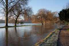 Flooded River Royalty Free Stock Photography