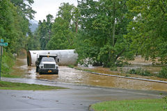 Flooded River Road Royalty Free Stock Photo
