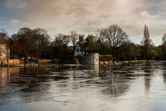 Flooded river in York Royalty Free Stock Photo