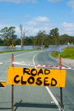 Flooded Road. In South East Queensland, Australia royalty free stock photos