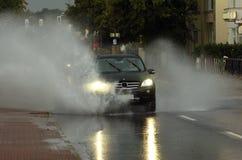 flooded road Στοκ εικόνα με δικαίωμα ελεύθερης χρήσης