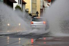 flooded road Στοκ φωτογραφία με δικαίωμα ελεύθερης χρήσης