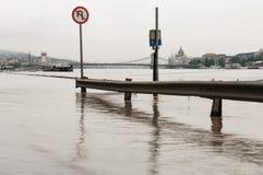 Flooded Road, Budapest Stock Photo