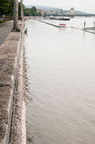 Flooded Road, Budapest Royalty Free Stock Photography