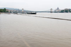 Flooded Road, Budapest Stock Images