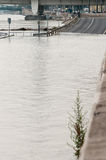 Flooded Road, Budapest Stock Photography