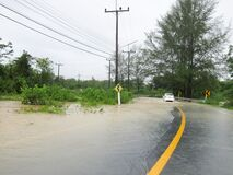 Free Flooded Road During The Monsoon Season Stock Image - 174617911