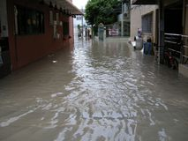 Flooded roads, Pattaya Royalty Free Stock Image