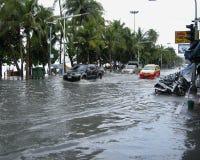 Flooded roads, Pattaya Royalty Free Stock Image