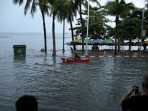 Flooded roads, Pattaya Royalty Free Stock Photography