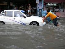 Flooded roads, Pattaya Royalty Free Stock Photos