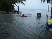 Flooded roads, Pattaya Stock Photography