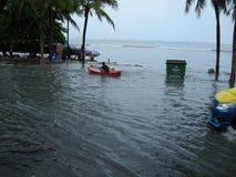 Flooded roads, Pattaya Stock Photography