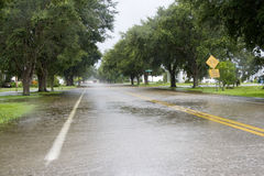 Flooded Roadway Stock Image