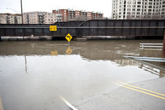 Flooded Roadway Outdoors Stock Photography