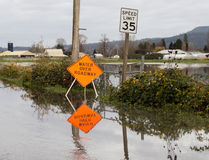 Flooded roadway Stock Photography