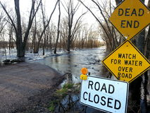 Flooded roadway Stock Photos