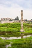 Flooded ruins of an ancient temple Stock Photography