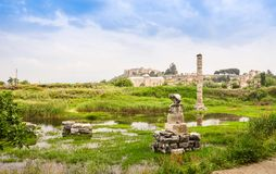 Flooded ruins of an ancient temple Stock Images