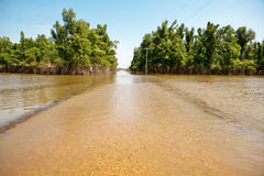 Free Flooded Rural Road Royalty Free Stock Images - 23250569
