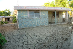 Flooded School. September 26, 2008 - A school in Gonaives, Haiti, is inundated with mud in the aftermath of Hurricane Ike and Tropical Storm Hanna, which killed Stock Photos