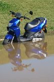 Flooded Scooter Royalty Free Stock Images
