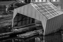 Flooded shed Stock Images