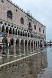 Flooded St. Marks Square in Venice, Italy. Royalty Free Stock Photos
